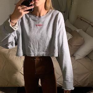 Levi's Cropped Logo Sweatshirt Size L *NWT*